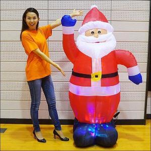 クリスマスエアブロー装飾 ディスコライト サンタ H180cm / ディスプレイ エアブロウ [動画有]|event-ya