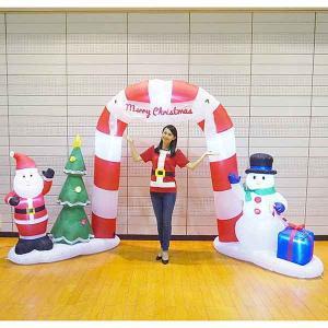 クリスマスエアブロー装飾 スノーマン H180cm / ディスプレイ エアブロウ 雪だるま/動画有|event-ya