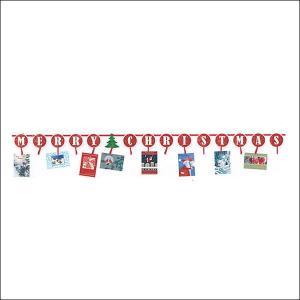 Xmasバナー クリスマスカードホルダー W360cm【装飾・飾り・ディスプレイ】|event-ya
