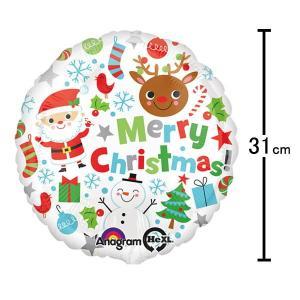 [在庫のみ]クリスマス風船 メリークリスマスアイコンズ/バルーン 装飾 ディスプレイ/バルーン 飾り デコレーション/メール便可|event-ya