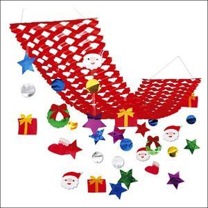 クリスマス装飾 サンタフェイスプリーツハンガー L150cm|event-ya