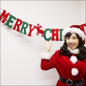 Xmasガーランド フェルトビッグクリスマス L150cm【装飾・飾り・ディスプレイ】|event-ya