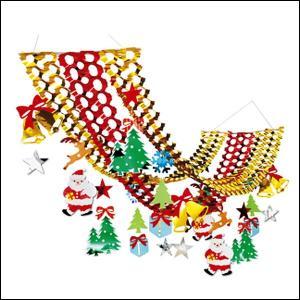 クリスマス装飾 メリーサンタ プリーツハンガー L180cm|event-ya
