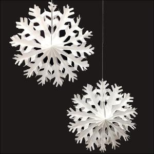 クリスマス装飾 スノーフレークでんぐり(2個組) 35cm|event-ya