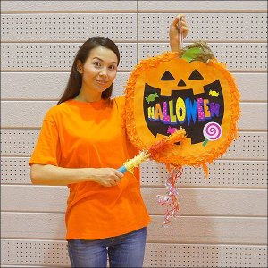ハロウィンパーティーイベントグッズ パンプキン装飾【ピニャータ】(お菓子を入れるハロウィンのくす玉) 直径25cm|event-ya