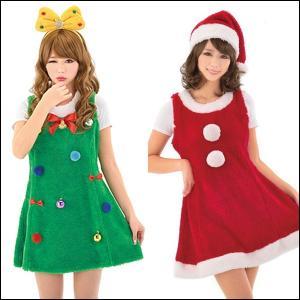 【在庫限り!大特価品】 クリスマスコスチューム セットでお得ふわもこサンタとツリーちゃん|event-ya