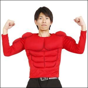 節分コスチューム ムキムキマッチョTシャツ 赤|event-ya