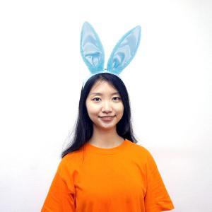 パステルバニーカチューシャ ブルー / ウサギ うさぎ 帽子 キャップ コスチューム イースター|event-ya
