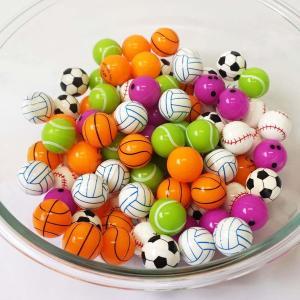 27mm スポーツスーパーボール 100個 [お祭り景品 すくい景品 縁日]|event-ya