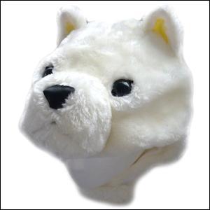 かぶりもの 白ワンコハット(干支・戌・犬)|event-ya