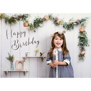 セットでお得 撮影用背景 Happy Birthday シャビーハウスと数字バルーンとハンドポンプ / 誕生日 写真|event-ya