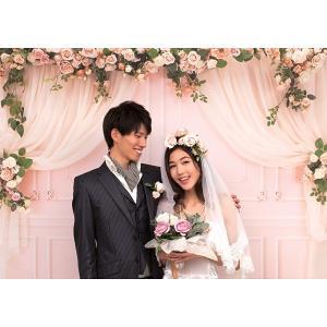 撮影用背景 ガーリーウェディング / フォト 結婚 記念|event-ya