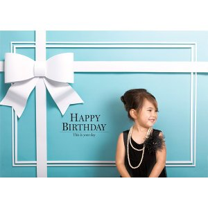セットでお得 撮影用背景 Happy Birthday ロイヤルブルーと数字バルーンとハンドポンプ / 誕生日 写真|event-ya