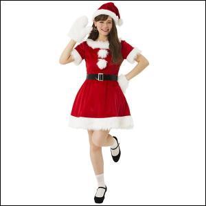 サンタクロースコスチューム(女性用) キャンディサンタ / クリスマス 衣装 仮装 コスプレ|event-ya
