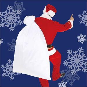 サンタクロースの袋(サンタさんの大きな袋)ポリエステル製 120×90cm【コスプレ・クリスマス衣装】|event-ya