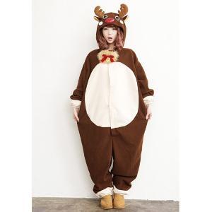 [在庫限りの処分特価]顔出し着ぐるみ ハッピートナカイ/クリスマス コスプレ 衣装|event-ya