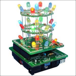 3Dイルミネーション工作キット「ピカ・タワー」、(はんだ付練習工作キット)|event-ya