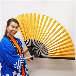 110cm装飾用大扇子(金色L)|event-ya