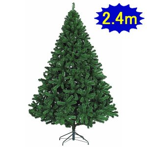240cmクリスマスツリー(パインツリー) W210cm 3分割/ 装飾 デコレーション 柊 ホーリー|event-ya