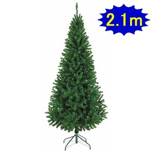 210cmスリムツリー W100cm 3分割 / 装飾 デコレーション 柊 ホーリー|event-ya