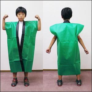 不織布子供ロングはっぴ カラー 小学生高学年・中学生用 / 緑|event-ya