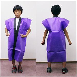 不織布子供ロングはっぴ カラー 小学生高学年・中学生用 / 紫|event-ya