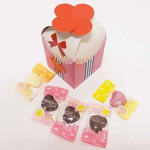 バレンタイン義理チョコ リボンハートチョコパック5粒入り ×30個|event-ya