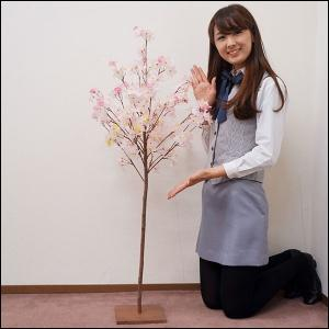[半額特価品]6,000⇒3,000円 桜装飾 ナチュラル桜立ち木 H120cm / 飾り ディスプレイ 春/動画有|event-ya