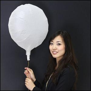 エコ和紙風船 丸型白(10枚)  【バルーン】|event-ya