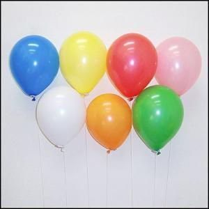 天然ゴム風船 無地カラーヘリウムガス用(100ヶ) 糸付きボール紙どうぶつクリップ/ バルーン  [動画有]|event-ya