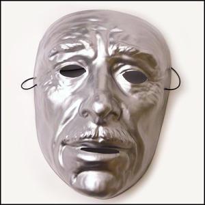 おめん シルバーマスク 男  / お面・マスク・かぶりもの・仮面|event-ya