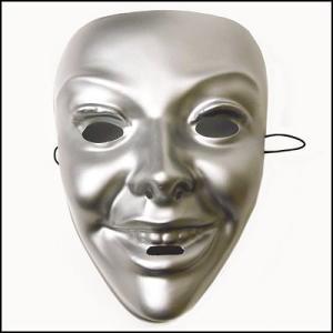 おめん シルバーマスク 女  / お面・マスク・かぶりもの・仮面|event-ya