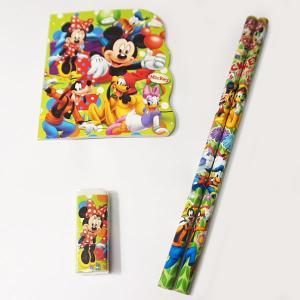 ディズニーミッキーファミリー文具4点セット 25個セット [文房具 文具 景品]|event-ya