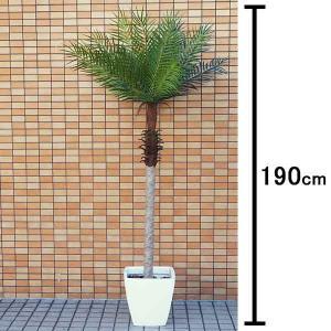 人工樹木 フェニックスパームツリー 190cm 白の鉢付き / 観葉植物 造花 ヤシの木 装飾 飾り ディスプレイ|event-ya