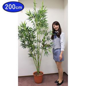 本格(笹はポリエステル布製)竹笹ポット(高さ210cm) [大型商品]|event-ya