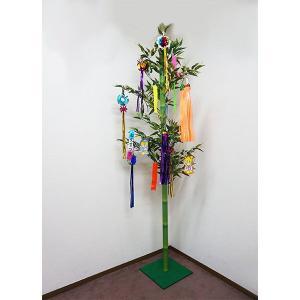 七夕吹流し飾り付、笹竹立ち木セット 210cm / 装飾 ディスプレイ [動画有] event-ya