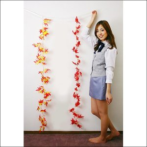 秋装飾 紅葉[もみじ]ガーランド ミックス 180cm|event-ya