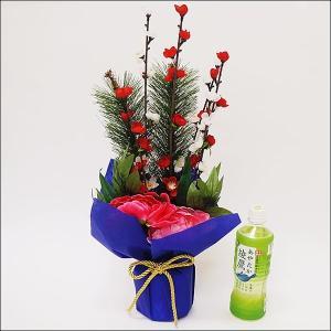 お正月アレンジ 松竹梅スタンド H52cm / 装飾 飾り ディスプレイ / 動画有|event-ya