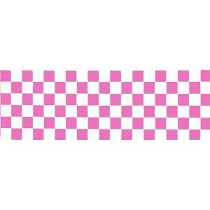 正月装飾ビニール幕 ピンク市松|event-ya