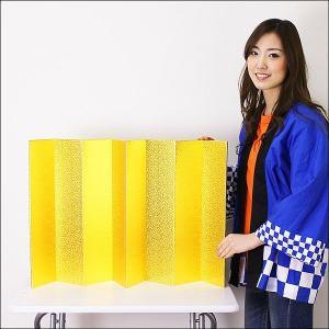 装飾用 金屏風(紙製) H50×W100cm / ディスプレイ・飾り|event-ya