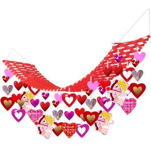 バレンタイン装飾 レッドキューピッドプリーツハンガー L180cm|event-ya