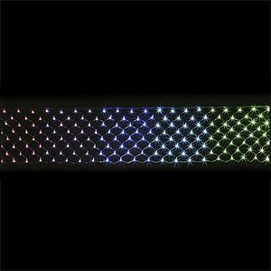LEDイルミネーション ネットライト レインボー 50cm×570cm / 動画有|event-ya