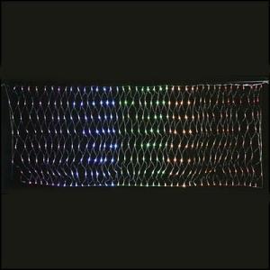 【現品限り!半額処分】LEDイルミネーション ネットライト レインボー 110cm×285cm / 動画有|event-ya