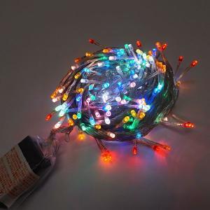 【現品限り】特価品 LEDイルミネーション 200球チェンジングライト レインボー 10m×10cm 箱汚れあり|event-ya