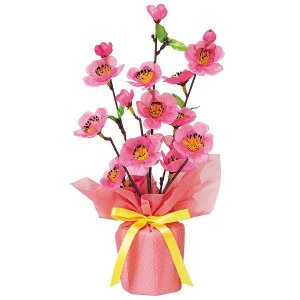 ひな祭り装飾 桃バリューラッピングポット H30cm / 雛祭り 飾り event-ya