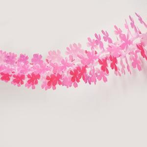 桜装飾 花びら25枚桃色桜ガーランド L180cm / 飾り ディスプレイ 春/メール便1点まで可|event-ya
