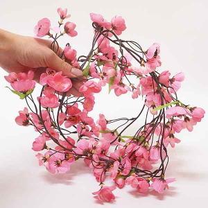 ひな祭り装飾 桃ガーランド L120cm 5本セット / ディスプレイ 飾り 雛祭り|event-ya