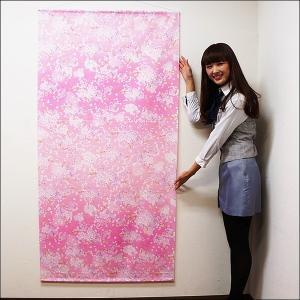 桜タペストリー 桜吹雪 防炎加工 L180cm / 春 装飾 飾り ディスプレイ|event-ya