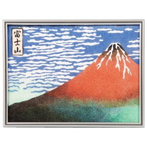 砂絵作りセット 富士山凱風快晴 切抜き済、のり付台紙付き|event-ya