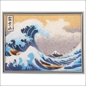 砂絵作りセット 富士山神奈川沖波 切抜き済、のり付台紙付き|event-ya